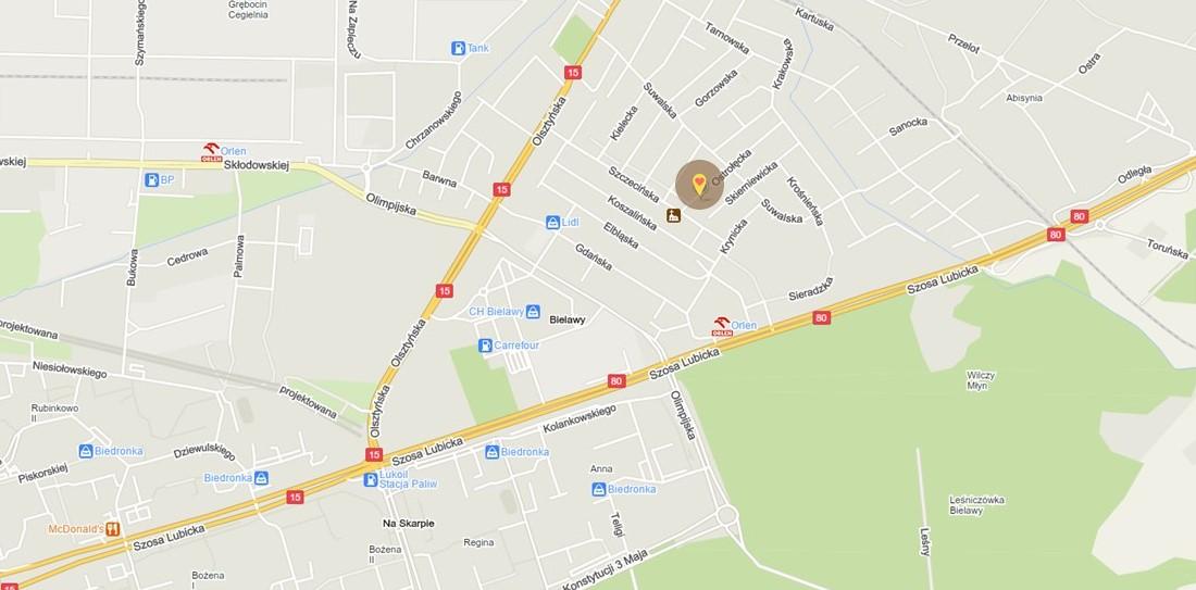Przedszkole_żłobek_Toruń_lokalizacja_bielawy_łatwy dojazd